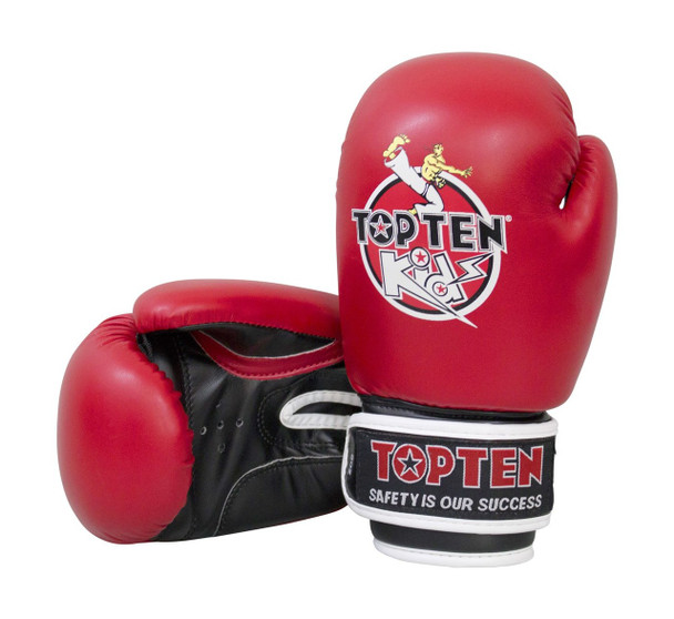 Top Ten Kids 2016 Boxing Gloves 8oz Red