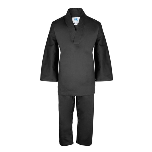 Bytomic Kids Black V-Neck Martial Arts Uniform