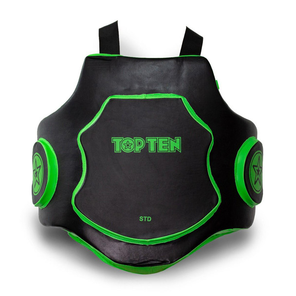 Top Ten MMA Belly Protector Black/Green