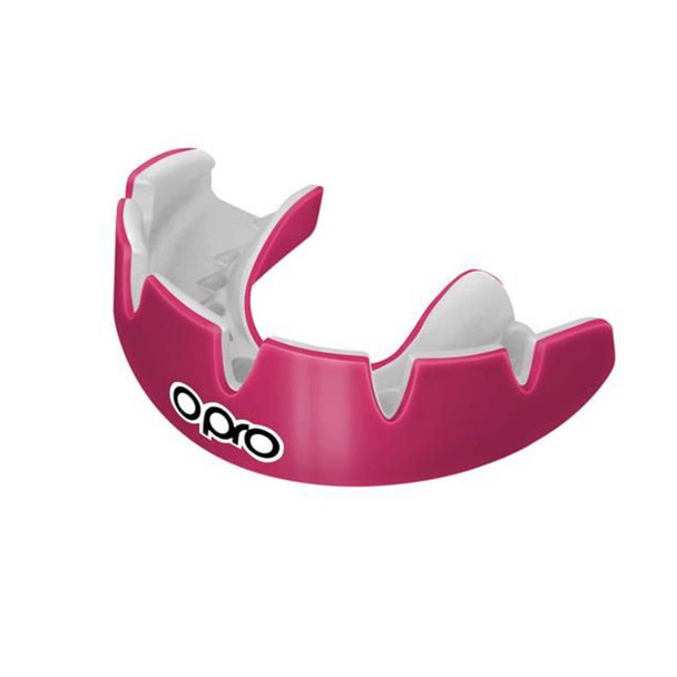 Opro Power Fit Braces Mouth Guard Pink/White