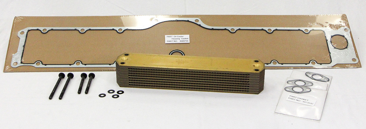 (24012) OIL COOLER KIT for CUMMINS ISX ENGINE OE 4089583 + Cover gasket