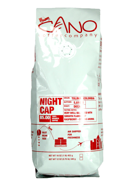Night Cap Decaf  Cano Coffee