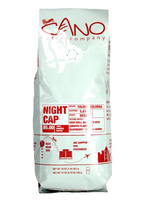 Night Cap Decaf  Cano Coffee