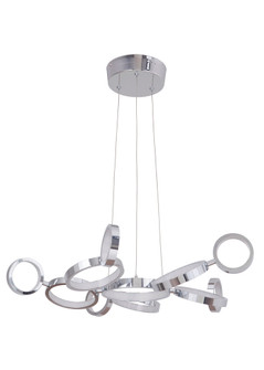 11 Ring LED Adjustable Pendant (20|47191CHLED)