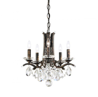 Vesca 5 Light Transitional Chandelier in Heirloom Bronze with Clear Crystals From Swarovski (168|VA8304N76S)