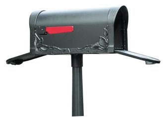SCF-1003-TD-WH Floral Curbside Mailbox with Two Doors (278|SCF1003TDWH)