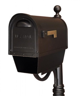 SCC-2008-BLK Classic Curbside Mailbox with Paper Tube (278|SCC2008BLK)