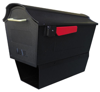 STB-2007-BLK Town Square Curbside Mailbox with Paper Tube (278|STB2007BLK)