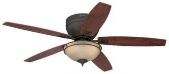 52 in. Oil Rubbed Bronze Finish Reversible Blades (Applewood/Cherry) Amber Alabaster Glass (32|7209600)