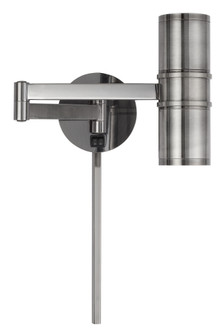 LED 7W (Bottom) Wall Swing Arm Reading Lamp With 2W Night Light On Top. 3 Ft Wire Cover in (162 WL2925GM)