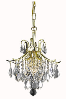 Amelia Collection Pendant D12in H15in Lt:3 Gold finish (758|LD8100D12G)