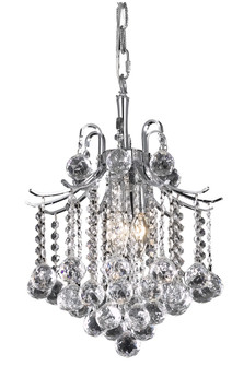 Amelia Collection Pendant D12in H15in Lt:3 Chrome finish (758|LD8200D12C)