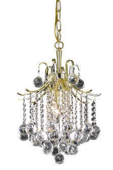 Amelia Collection Pendant D12in H15in Lt:3 Gold finish (758|LD8200D12G)