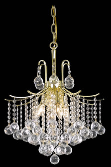 Amelia Collection Pendant D17in H20in Lt:6 Gold Finish? (758|LD8200D17G)