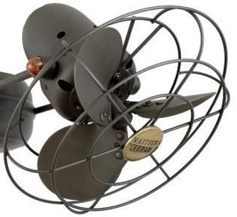 Aluminium Fan Head with Safety Cage-Brushed Nickel (230 ATFHMTLSAFBN)