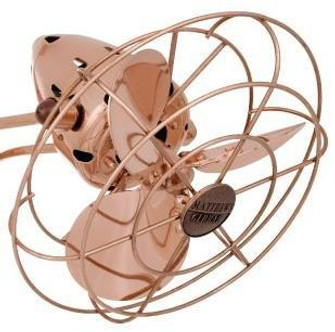 Aluminium Fan Head with Safety Cage-Brushed Copper (230 MetalSFFHBRCP)