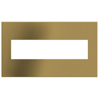 Brushed Satin Brass, 4-Gang  Wall Plate (1452|AWC4GBSB4)