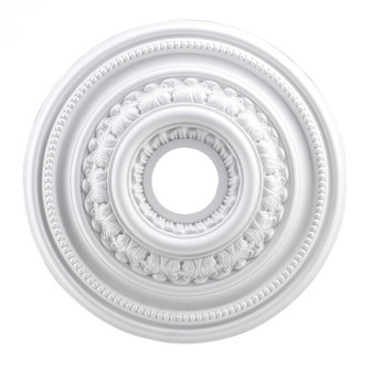 English Study Medallion 18 Inch in White Finish (91 M1002WH)