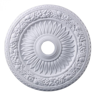 Floral Wreath Medallion 24 Inch in White Finish (91 M1006WH)