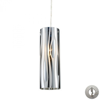 Chromia 1-Light Mini Pendant in Polished Chrome with Cylinder Shade - Includes Adapter Kit (91|310781LA)