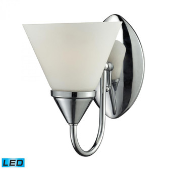 1Light Glass Bath Bar in Chrome Finish - LED Offering Up To 800 Lumens (60 Watt Equivalent) with Ful (91 840651LED)