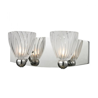 Lindale 2-Light Vanity Lamp in Polished Chrome with Frosted Glass (91 117912)