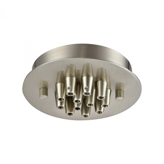 Pendant Options 12 Light Small Round Canopy in Satin Nickel (91 12SRSN)