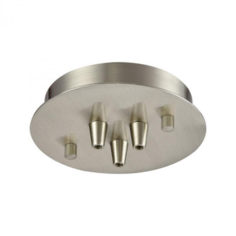 Pendant Options 3 Light Small Round Canopy in Satin Nickel (91 3SRSN)