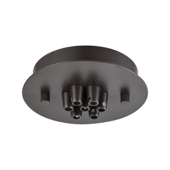 Pendant Options 7 Light Small Round Canopy in Oil Rubbed Bronze (91 7SROB)