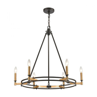 Talia 6-Light Chandelier in Oil Rubbed Bronze and Satin Brass (91|156056)