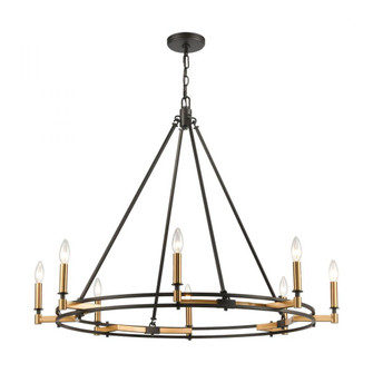 Talia 8-Light Chandelier in Oil Rubbed Bronze and Satin Brass (91|156068)