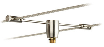 Cable System Adapter Satin Nickel for EZ Jack (1381 CSEJADPSN)