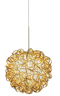 Pendant Kurly Sphere Gold  Polished Nickel LED G4 JC 2W Monopoint Canopy (1381 PD536GOPNL2M)