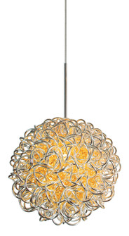 Pendant Kurly Sphere Silver Polished Nickel Hal G4 35W 700lm Monopoint (1381 PD536SIPNX3M)