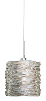 Pendant Coil Short Silver  Satin Nickel LED G4 JC 2W Monopoint Canopy (1381|PD537SISNL2M)