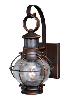Chatham Motion Sensor Dusk to Dawn Outdoor Wall Light Burnished Bronze (51|T0326)
