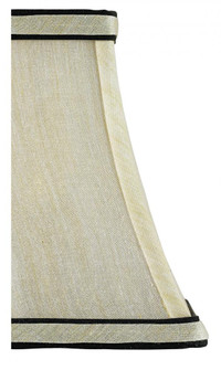Cream Silk Square Shade/Black Trim (92|0338)