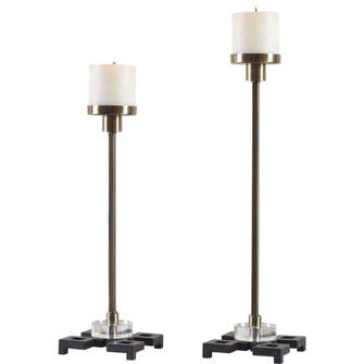 Uttermost Montag Brass Candleholders, S/2 (85|17834)
