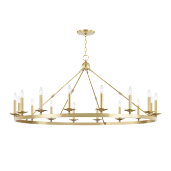 16 LIGHT CHANDELIER (57|3216AGB)
