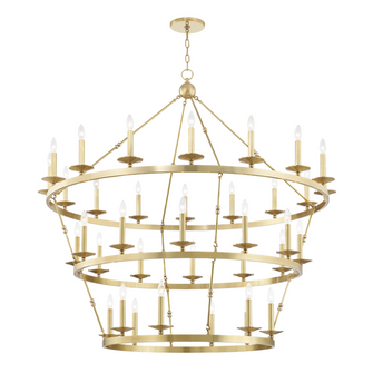 36 LIGHT CHANDELIER (57|3258AGB)