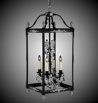 4 Light 13 inch Extended Square Lantern with Crystal and Glass (1254|LT2414A01GPI)