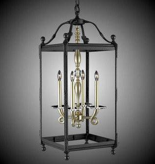 4 Light 13 inch Extended Square Lantern with Glass (1254|LT231432GST)