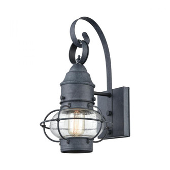 Onion 1-Light Outdoor Wall Lamp in Aged Zinc (91|571701)