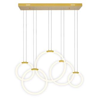 5 Light LED Chandelier with Satin Gold finish (3691|1273P445602RC)
