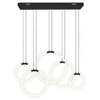 5 Light LED Chandelier with Black finish (3691|1273P445101RC)