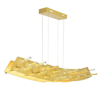 LED Chandelier with Satin Gold finish (3691|1244P40602)