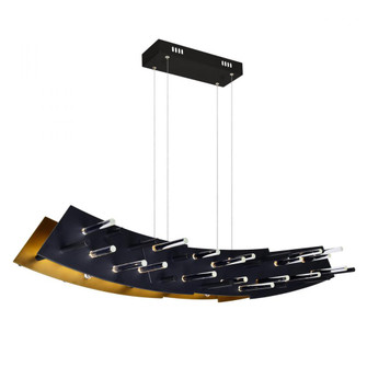 LED Chandelier with Black finish (3691|1244P40101)