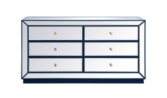 60 inch mirrored chest in blue (758|MF53036BL)