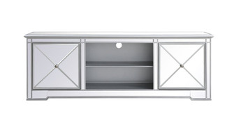 Modern 72 in. mirrored tv stand in antique Silver (758|MF60172S)