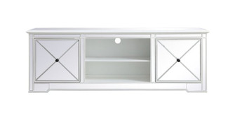 Modern 72 in. mirrored tv stand in antique white (758|MF60172AW)